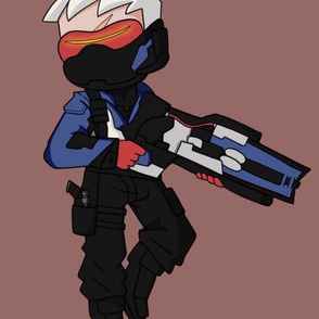 Soldier 76 Pillow Fabric
