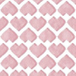 """Kilim"" my heart // pastel pink hearts"