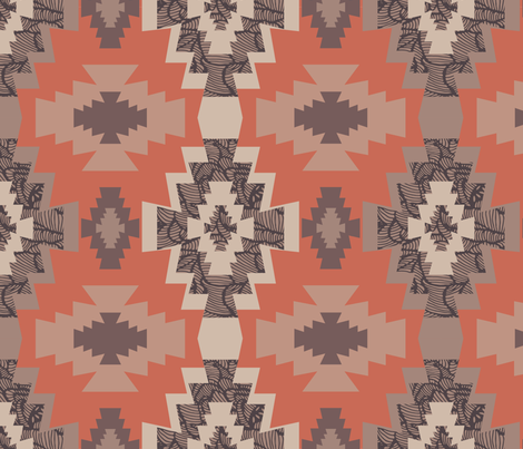 Kilim Style fabric by docious_designs_by_patricia_braune on Spoonflower - custom fabric
