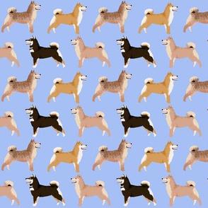 shiba inu dog cute dogs navy blue dog fabric pet dog shiba inu Japanese dog fabric doge - periwinkle (smaller)