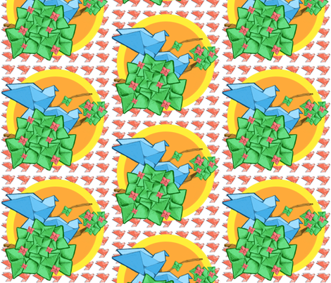 Origami Blue Bird fabric by aperson___probably on Spoonflower - custom fabric