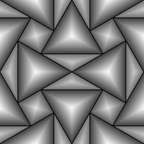 07201462 : triangle 4g : grey 3D