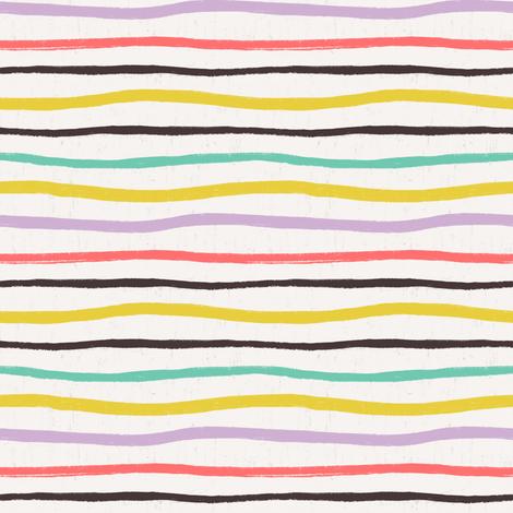 Wavy Stripe fabric by allierunnion on Spoonflower - custom fabric