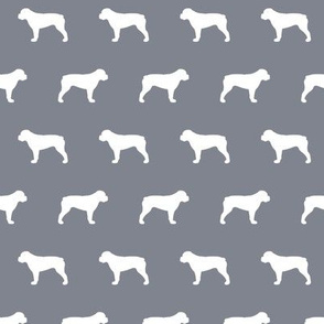 American Bulldog Cool Grey Background