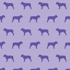 American Bulldog Violet Silhouette