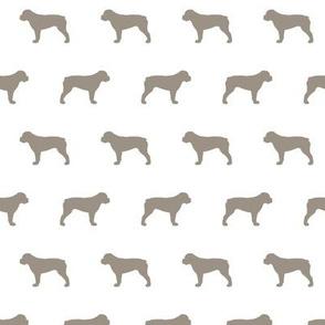 American Bulldog Warm Grey Silhouette