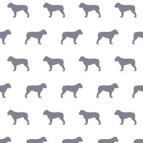 American Bulldog Cool Grey Silhouette