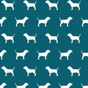 Beagle Silhouette on Teal