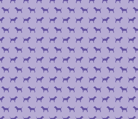 Beagle Silhouette on Violet fabric by mariafaithgarcia on Spoonflower - custom fabric
