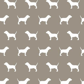Beagle Silhouette on Warm Grey