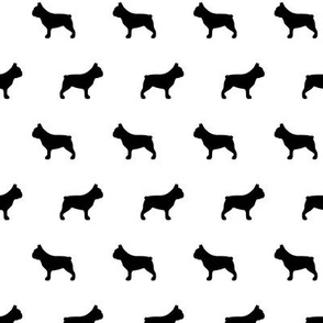 French Bulldogs Black Silhouette