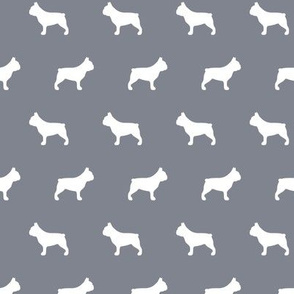 French Bulldogs Cool Grey Background