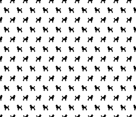 Poodle Black Silhouettes fabric by mariafaithgarcia on Spoonflower - custom fabric