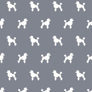 Poodle Silhouettes on Cool Grey