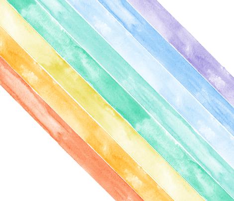 "watercolor rainbow (90)- wholecloth 1 yard cut (42"") fabric by littlearrowdesign on Spoonflower - custom fabric"