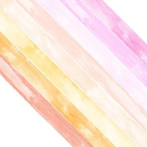 "watercolor rainbow in peach (90)- wholecloth 1 yard cut (42"")"