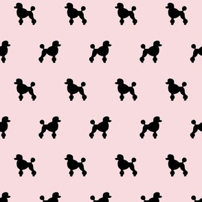 Poodle Silhouettes on Pink