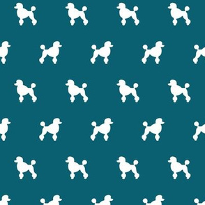 Poodle Silhouette on Teal