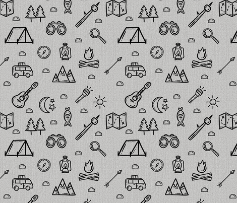 Breaking Camp fabric by sarakristinedesigns on Spoonflower - custom fabric