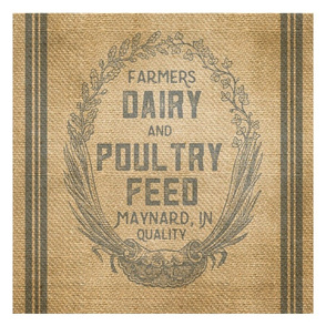 Dairy Feed Sack Farmhouse