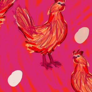 Chickens, yo.