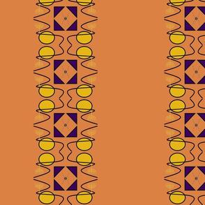 Menorah evolution khaki orange