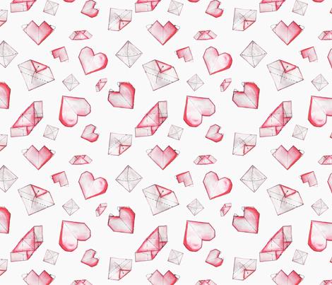 Paper Heart fabric by twyfie on Spoonflower - custom fabric