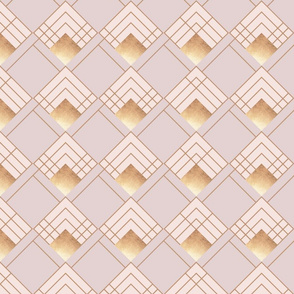 Modern Art Deco in Blush and Gold - large