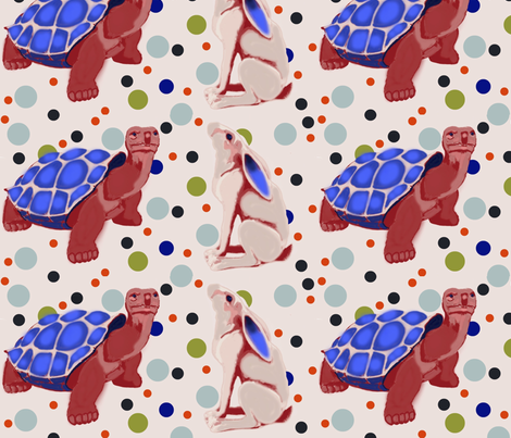 Tortoise and the Hare  fabric by elphaba09 on Spoonflower - custom fabric