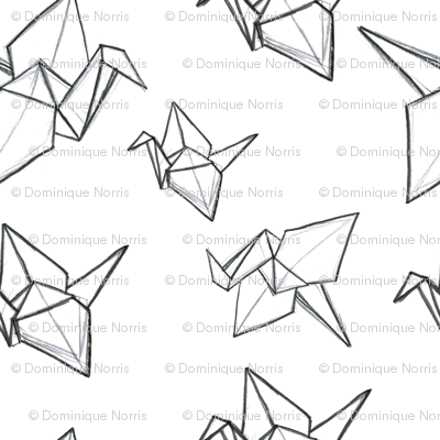 Origami Sketch Wallpaper