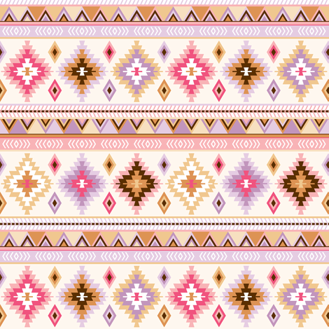 pink and sand kilim - small fabric by heleenvanbuul on Spoonflower - custom fabric