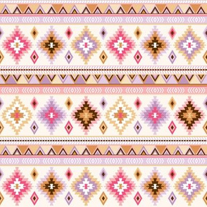 pink and sand kilim - small