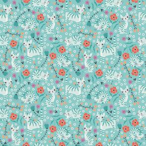 catsandflowerslihtblue