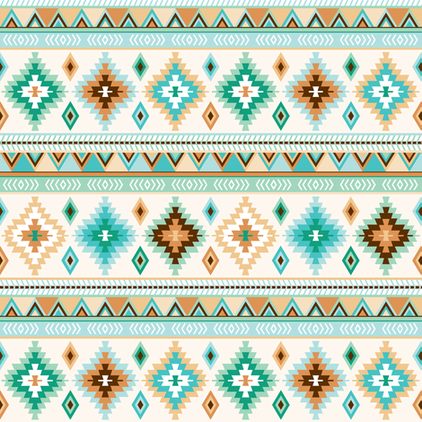green and sand kilim - small fabric by heleenvanbuul on Spoonflower - custom fabric