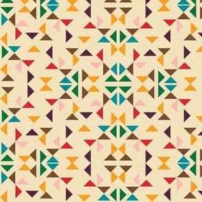 kilim triangle beije background