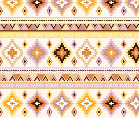 mustard and sand kilim fabric by heleenvanbuul on Spoonflower - custom fabric
