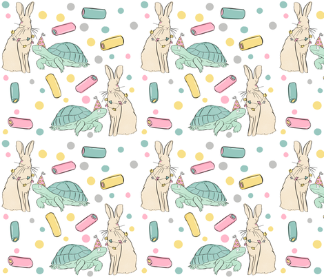 The Tortoise & The Hare fabric by how-store on Spoonflower - custom fabric