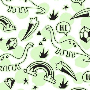Green Dinosaur Life