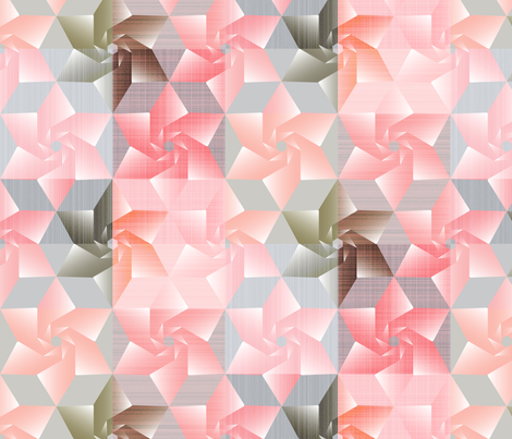 Persimmon moss sakuragami fabric by mimihammill on Spoonflower - custom fabric