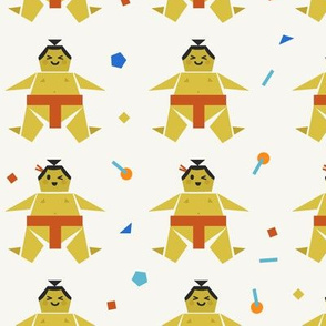 Origami Happy Sumo with Confetti