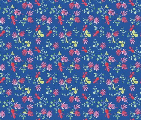 Wild flowers fabric by charlotte_lorge on Spoonflower - custom fabric