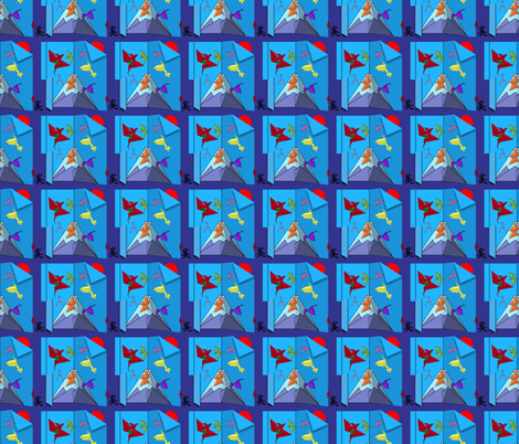 The Happy Fugi Dragons fabric by flower_wall on Spoonflower - custom fabric