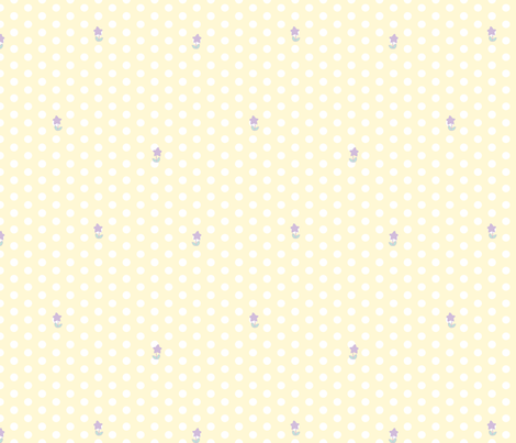 Starry Meadow Dots fabric by chibiosaka on Spoonflower - custom fabric
