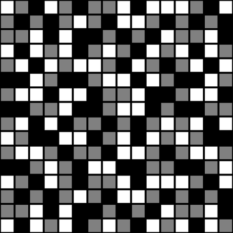 Medium Mosaic Squares in Black, Medium Gray, and White fabric by mtothefifthpower on Spoonflower - custom fabric