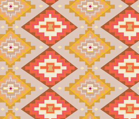 Sunset kilim pattern fabric by pixabo on Spoonflower - custom fabric