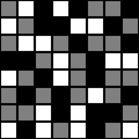 Large Mosaic Squares In Black Medium Gray And White