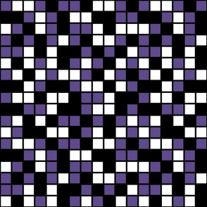 Large Mosaic Squares in Black, Ultra Violet, and White
