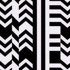 Striped Kilim in Black + Bone