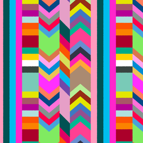 Striped Kilim in Warm Multi fabric by elliottdesignfactory on Spoonflower - custom fabric