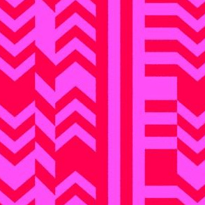 Striped Kilim in Neon Red + Pink
